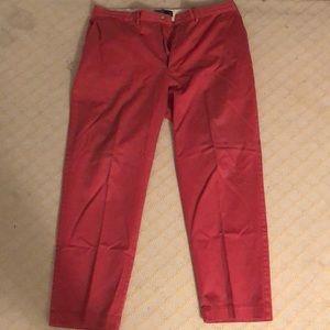 Men's red khakis